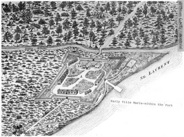 Third permanent settlement of New France: Ville-Marie