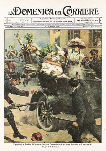 Scoppio della prima guerra mondiale