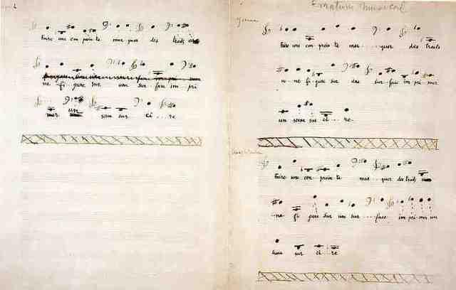 """Marcel Duchamp creates """"Erratum Musical"""""""
