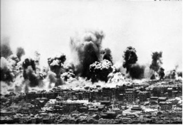 Bombardeo aéreo de Chungking.