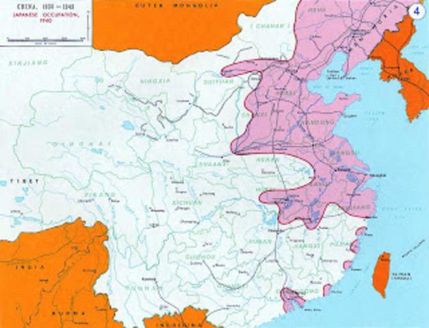 Territorios controlados por el Japón hasta finales de 1940.