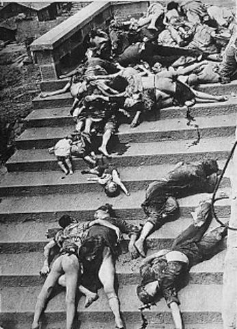 Civiles chinos muertos en Chungking