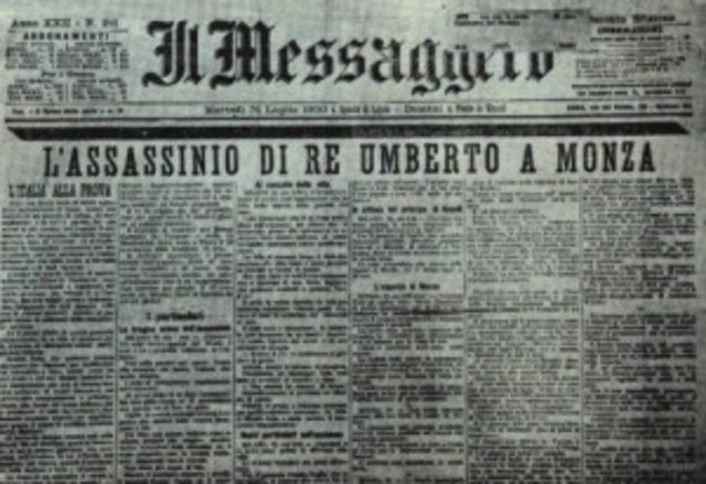 Il re Umberto I viene assassinato a Monza