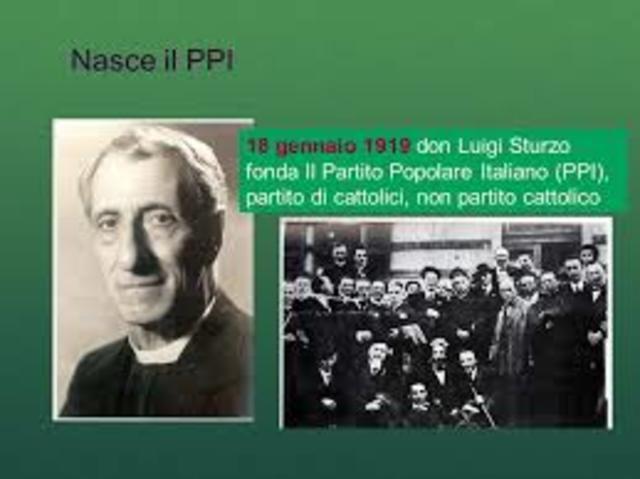 fondazione del partito popolare italiano
