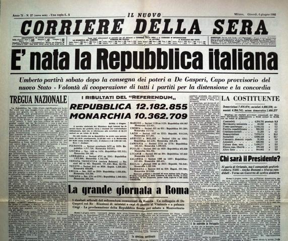 La Repubblica in Italia