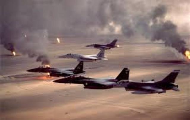 Operation Desert Storm beings