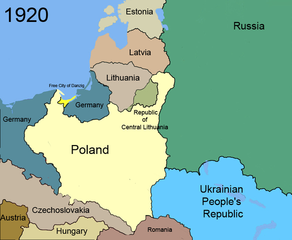 Great Britain and France guarantee the stability of the Polish borders