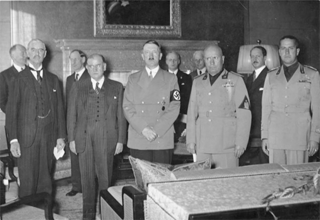 France, Italy, Germany, and Great Britain Sign the Munich Agreement