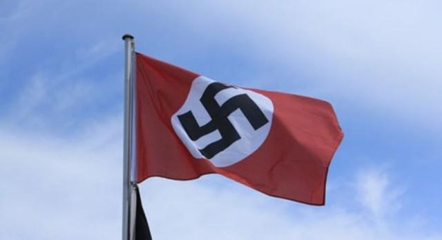A Nazi Flag was Raised