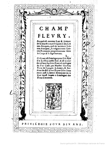 GEOFFROY TORY Y CLAUDE GARAMOND