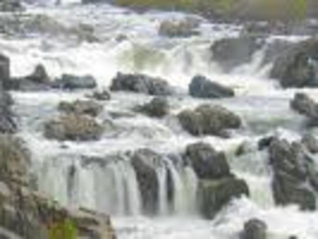 The Explorers Start to Cross the Great Falls