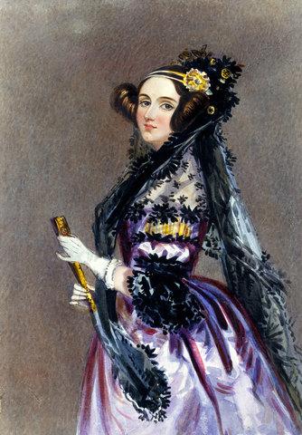 Ada Lovelace programs a nonexistent computer