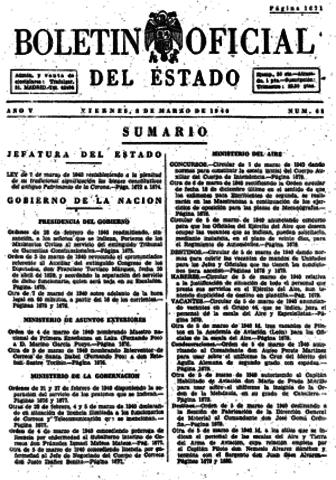 Ratificación Española del Convenio Provisional de Aviación Civil