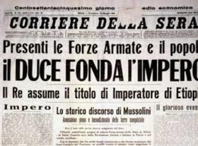 Nascita dell'Impero coloniale italiano