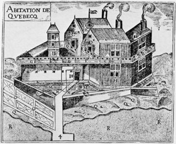 Samuelle de Champlain Founds the First Permanent Settlement
