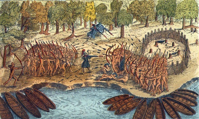 The First Battle Between the French and the Iroquois
