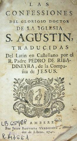 """""""Las Confesiones"""" y """"De Trinitate"""""""