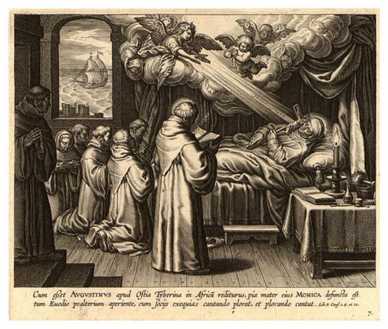 Muerte de San Agustín en Hipona