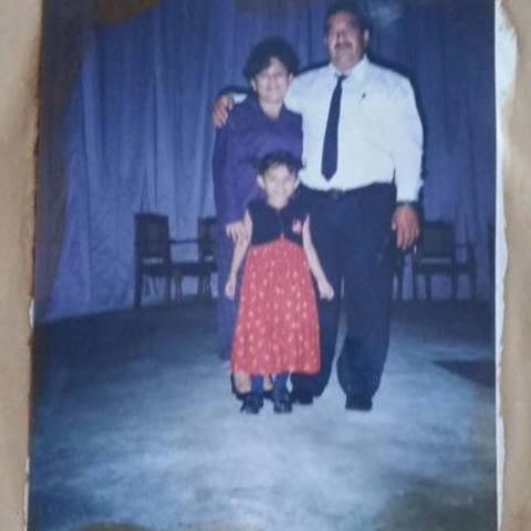 Iglesia con mis abuelos