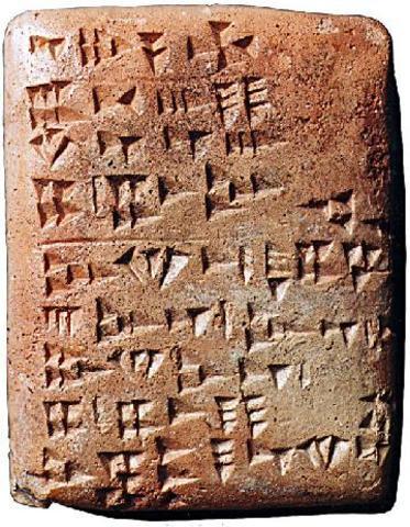 La invención de la  Escritura 2800 a.C