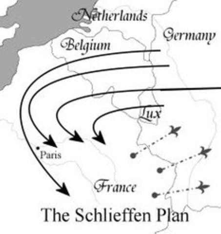 Belgium is invaded