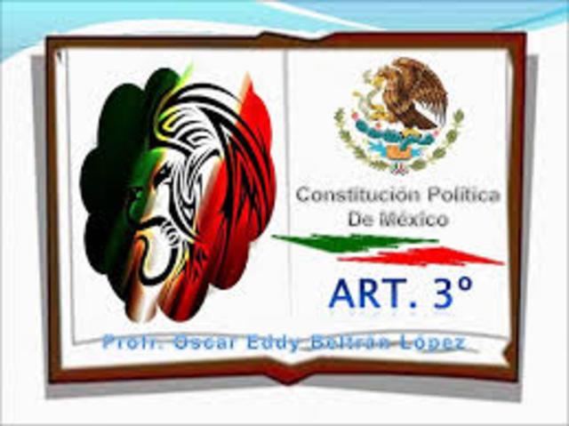 Reforma publicada (art. 3) en el Diario Oficil
