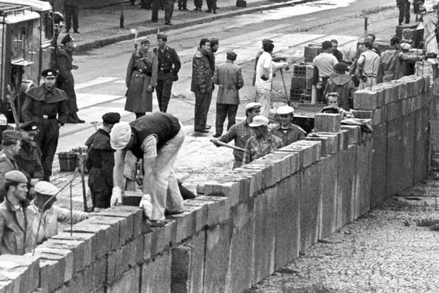 Costruzione muro di Berlino
