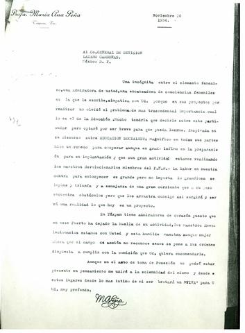 Carta María Ana Peá