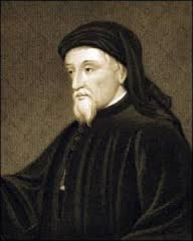 Geoffrey Chaucer born circa