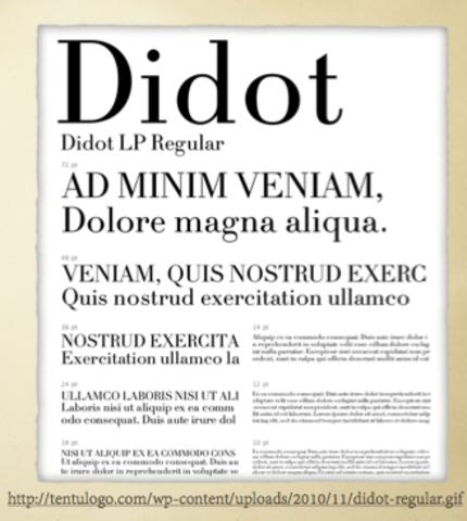 La influencia de la familia Didot: Las romanas modernas.