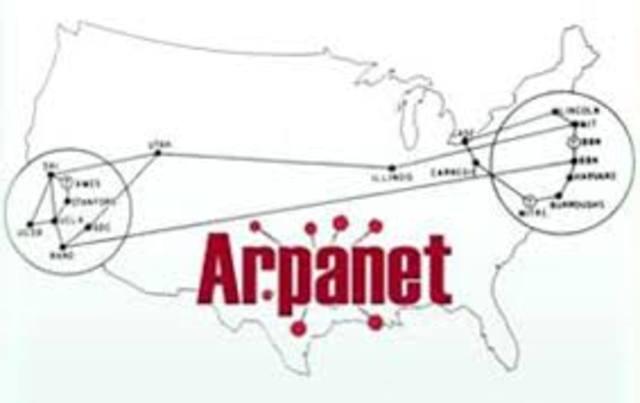 Se conectaron cuatro computadoras, tres en California y una en UTA, la red que onoció como ARPANET