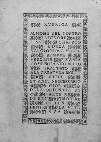 Libro Ars Moriendi