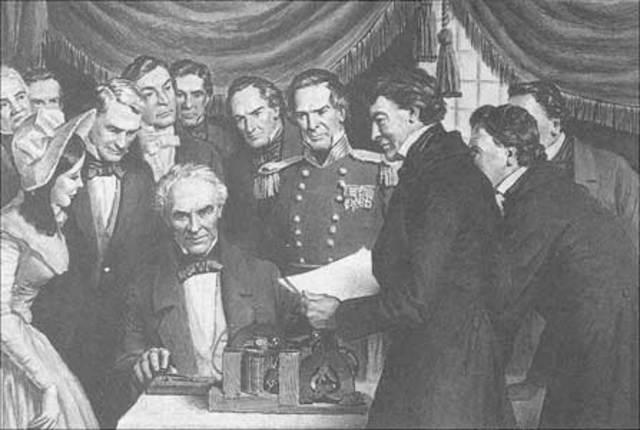 First Telgraph Msg Washington D.C. to Baltimore