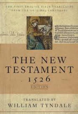 Tynsdale Translation into English - New Testament