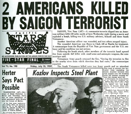 First Americans Killed in South Vietnam