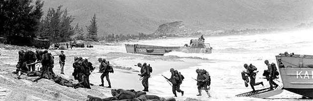 First U.S. combat troops deployed to Vietnam