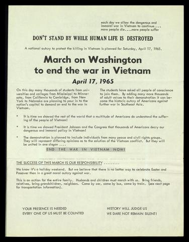 March on Washington to end war in Vietnam