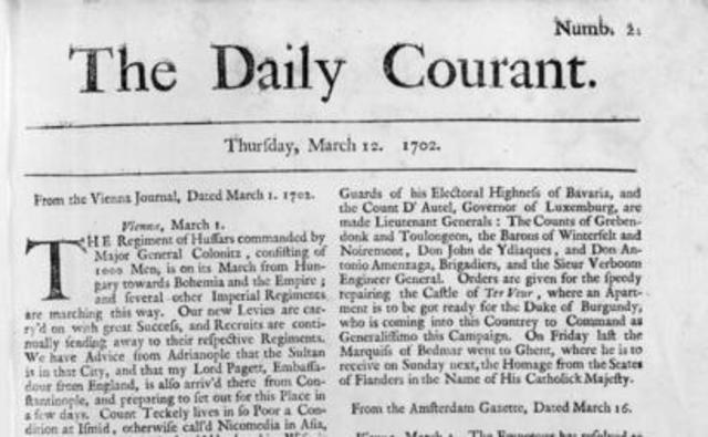 First Publication of The Daily Courant