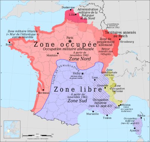 La France, elle aussi cède sous la puissance allemande.