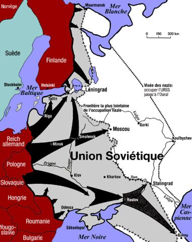 L'Opération Barbarossa : l'ivnasion soviétique.