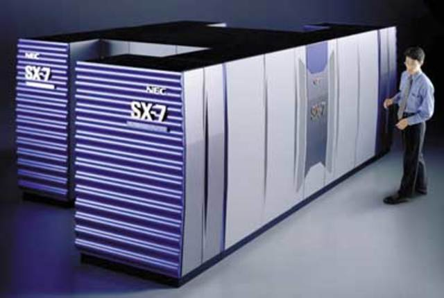 ервый суперкомпьютер с массивной параллельной обработкой