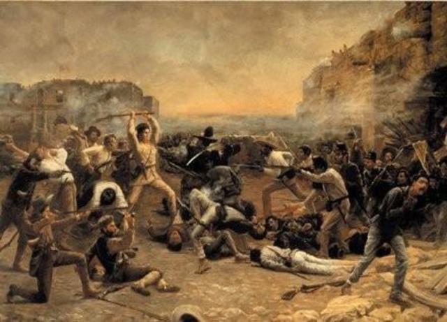 The Batle of the Alamo started.