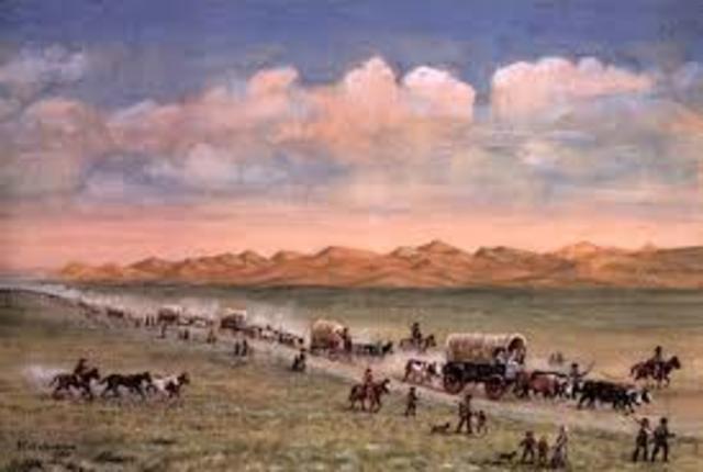 First major Wagon Train head to Oregon on the Oregon Trail