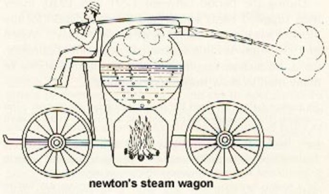 carro de vapor Isaac Newton