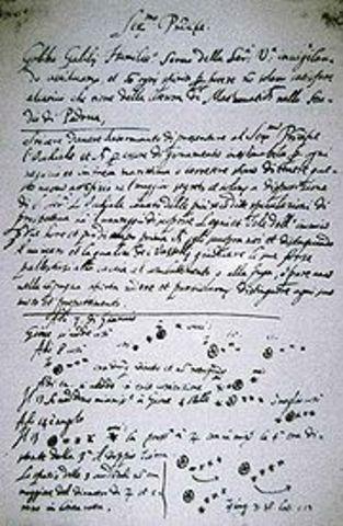 Galilée découvre les 4 satellites de Jupiter