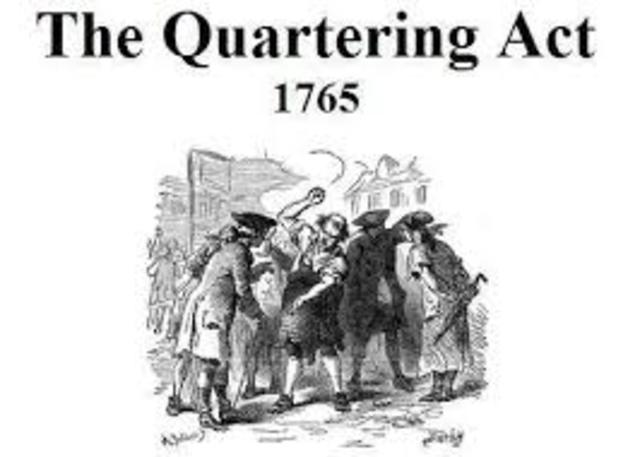 Quartering Acts of 1765