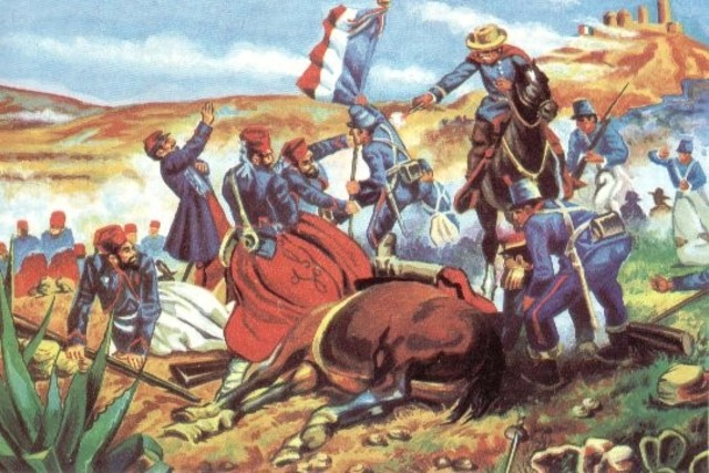 Beginning of the second french intervention