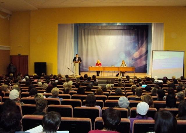 Общегородское родительское собрание с участием министра образования и науки Самарской области Дмитрием Овчинниковым – Новокуйбышевск, 2012 год
