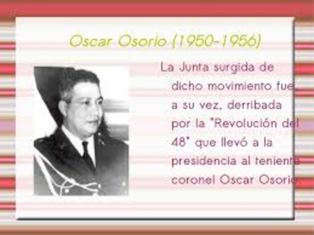Gobierno de Oscar Osorio