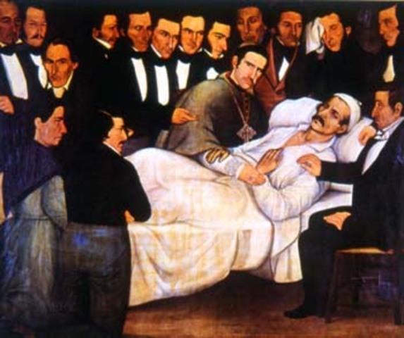 muerte de Santander en Bogotá